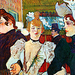 Анри де Тулуз-Лотрек - Toulouse-Lautrec de Henri Entering Moulin Rouge Sun