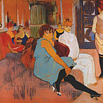Henri De Toulouse-Lautrec - lautrec_in_the_salon_of_the_rue_des_moulins_c1894