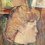 Анри де Тулуз-Лотрек - Toulouse-Lautrec The Painters Model Helene Vary in the Stud