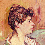Henri De Toulouse-Lautrec - Portrait of Marcelle, 1893-94, oil on cardb