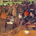 Henri De Toulouse-Lautrec - Toulouse-Lautrec At the Moulin de la Galette, 1889, oil on c