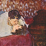 Henri De Toulouse-Lautrec - lautrec_the_kiss_1892