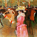 Анри де Тулуз-Лотрек - Toulouse-Lautrec de Henri Dance in the moulin rouge Sun