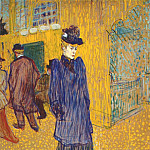 Henri De Toulouse-Lautrec - lautrec_jane_avril_leaving_the_moulin_rouge_1892