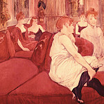 Анри де Тулуз-Лотрек - In the Salon at the Rue des Moulins, Toulouse-Lautrec - 1600