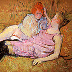 Анри де Тулуз-Лотрек - Toulouse-Lautrec de Henri The sofa Sun