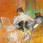Анри де Тулуз-Лотрек - Toulouse-Lautrec Study for Elles (Woman in a Corset), 1896