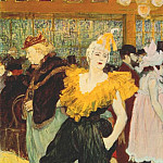 Henri De Toulouse-Lautrec - lautrec_the_clownesse_cha-u-kao_at_the_moulin_rouge_1895