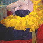 Henri De Toulouse-Lautrec - lautrec_the_clownesse_cha-u-kao_at_the_moulin_rouge_ii_1895