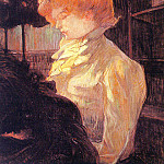 Henri De Toulouse-Lautrec - Toulouse-Lautrec The Milliner, 1900, oil on board, Musee Tou