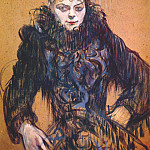 Henri De Toulouse-Lautrec - lautrec_woman_with_a_black_feather_boa_c1892