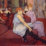 Henri De Toulouse-Lautrec - 1894 - Henri Toulouse Lautrec - The parlor at rude des Moulines
