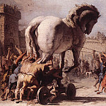 TIEPOLO_Giovanni_Domenico_The_Procession_Of_The_Trojan_Horse_In_Troy, Giovanni Battista Tiepolo