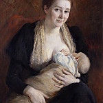Maternal Joy. The Wife of the Artist Jacob Kulle, Jakob Kulle