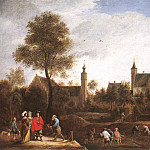 David II Teniers - TENIERS_David_the_Younger_A_View_Of_Het_Sterckshof_Near_Antwerp