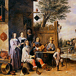David II Teniers - Teniers David Landscape with a family Sun