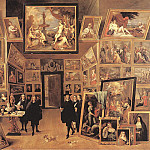 Дэвид II Тенирс - TENIERS_David_the_Younger_Archduke_Leopold_Wilhelm_In_His_Gallery_1647