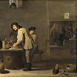 Unknown painters - Tavern Scene with Pipe-smokers [Manner of]