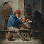 David II Teniers - Tavern Scene with Smokers