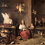 David II Teniers - Teniers David jr Kitchen interior Sun_2