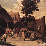 Дэвид II Тенирс - TENIERS_David_the_Younger_Peasants_Dancing_Outside_An_Inn