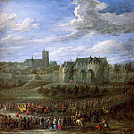 David II Teniers - Teniers David Jr Arrival Christina of Sweden in Brussel