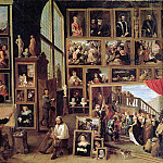 David II Teniers - Teniers David II Arch duke Leopold in painting gallery Sun