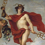 Simon Vouet - Mercury Departing from Antwerp [Detail, After]