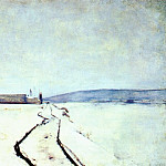 Джон Генри Твахтман - twachtman_along_the_river,_winter_c1887-8
