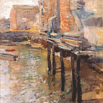 John Henry Twachtmann - twachtman_the_old_mill_at_cos_cobb_c1900-2
