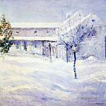 John Henry Twachtmann - twachtman_old_holley_house_(cos_cob)_c1901