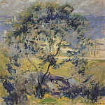 John Henry Twachtmann - twachtman_the_wild_cherry_tree_c1901
