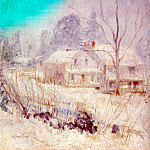 Джон Генри Твахтман - twachtman_country_house_in_winter_(cos_cob)_c1901