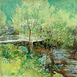 John Henry Twachtmann - twachtman_the_white_bridge_1895-1900