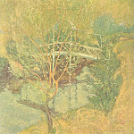 Джон Генри Твахтман - John H Twachtman-The White Bridge(Unk) Po Amp 063