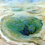 John Henry Twachtmann - twachtman_morning_glory_pool_(yellowstone)_c1895