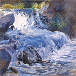 John Henry Twachtmann - twachtman_the_waterfall_c1895-1900
