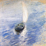 Джон Генри Твахтман - twachtman_sailing_in_the_mist_c1890-1900