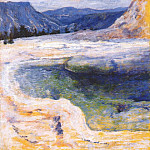 John Henry Twachtmann - twachtman_emerald_pool_(yellowstone)_c1895