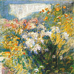 John Henry Twachtmann - twachtman_in_the_greenhouse_c1890-1902