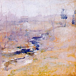 John Henry Twachtmann - twachtman_end_of_winter_c1890-95