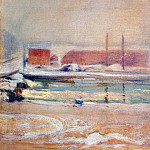 Джон Генри Твахтман - twachtman_view_from_the_holley_house,_winter_c1901