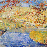 John Henry Twachtmann - twachtman_the_winding_brook_c1887-1900
