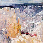 John Henry Twachtmann - twachtman_canyon_in_the_yellowstone_c1895
