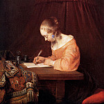 Gerard Terborch - Woman writing a letter