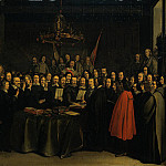 Gerard Terborch - The Ratification of the Treaty of Munster 15 May 1648