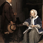 Gerard Terborch - Lady Reading A Letter detail