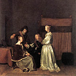 Gerard Terborch - The Visit