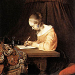Gerard Terborch - Woman_Writing_a_Letter_WGA