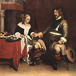 Gerard Terborch - Man_Offering_a_Woman_Coins_WGA